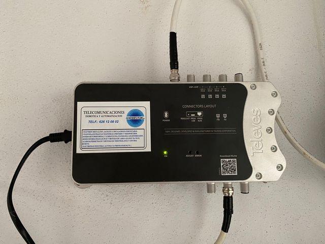Amplificador comunidad programable tdt antena 5g