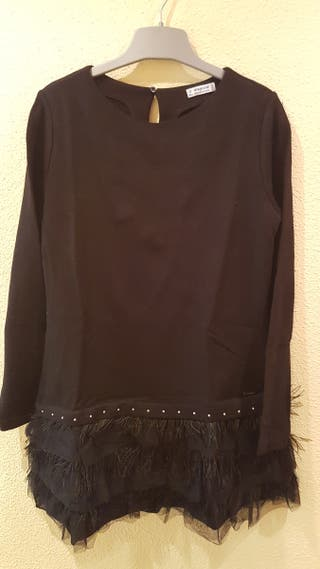 vestido negro niña de mayoral