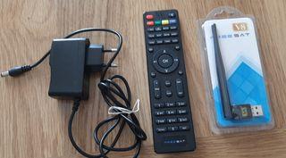Mando,antena wifi y transformador Freesat