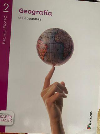 Libro geografía 2 bachillerato Santillana