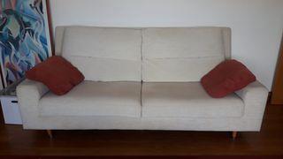 Sofá beige 4 plazas