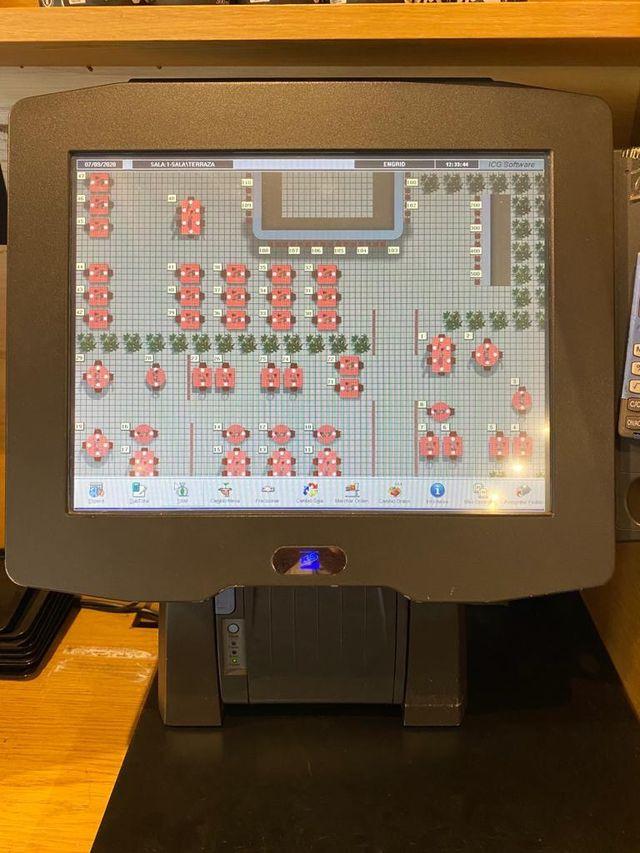 Sistema de caja registradora TPV para restaurante