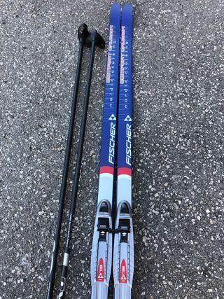 Esquies palos y botas esqui nordico