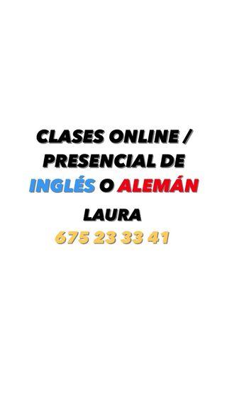 CLASES DE INGLÉS O ALEMÁN