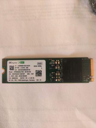 Disco duro SSD mvme 256 gb