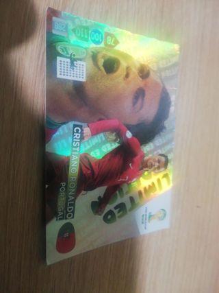 Cromo de Cristiano Ronaldo Portugal Mundial de Bra