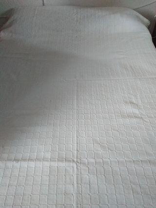 manta color marfil para sofá o cama