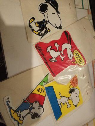 Lote 4pegatinas Snoopy