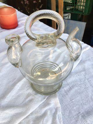 Antiguo botijo de cristal soplado,,perfecto estado