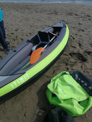 kayak inflable + remos