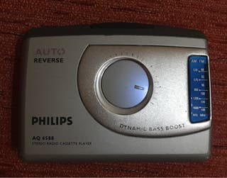 WALKMAN PHILIPS REPRODUCTOR AUTOREVERSE Y RADIO