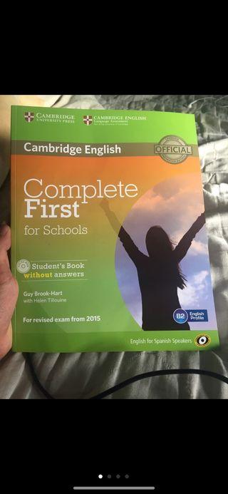 Libro inglés Cambridge First