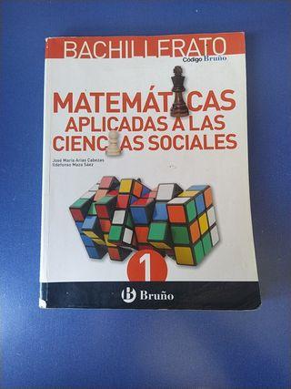libro matemáticas aplicadas a las CC.SS. 1° bach.