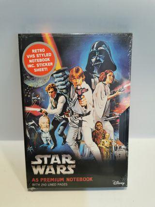 Cuaderno Star Wars VHS con pegatinas