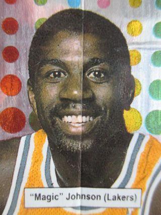 LOTE CROMOS PEGATINAS CHICLES NBA 1989 MAGIC