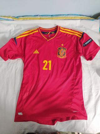 Camiseta talla L de la Selección Española Euro 12