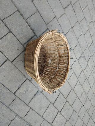 cesta mimbre bicicleta