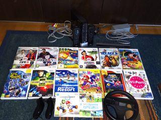 Consola Wii con todos los accesorios