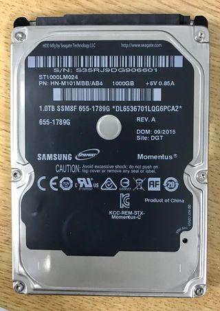 """Disco duro 1TB 2.5"""""""