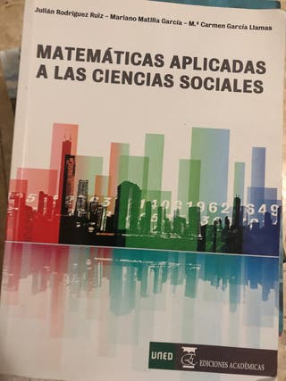 "Libro ""Matemáticas aplicadas a las ciencias social"