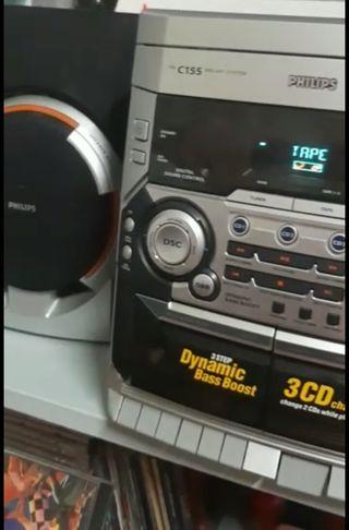 Equipo de música IMPECABLE PHILIPS C155 oferta!