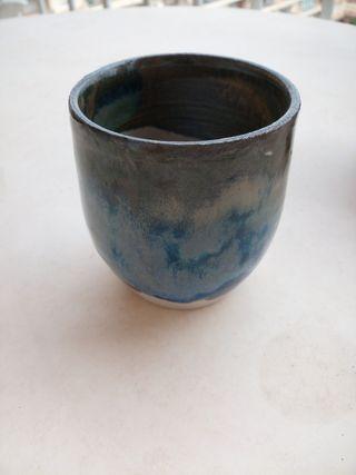 taza japonesa de té, torneada a mano