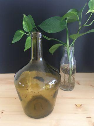 Antigua damajuana de 2-3l cristal soplado