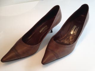 Tacones , Leather Pumps, 40, original vintage!