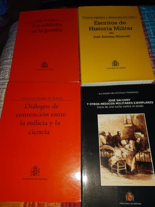 Lote libros militares