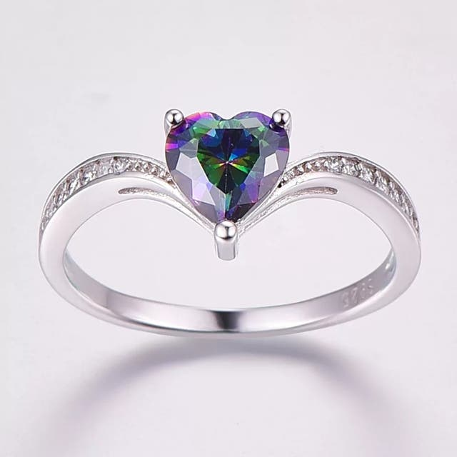 J.C Rainbow Fire Mystic Topaz 925 S.S Ring