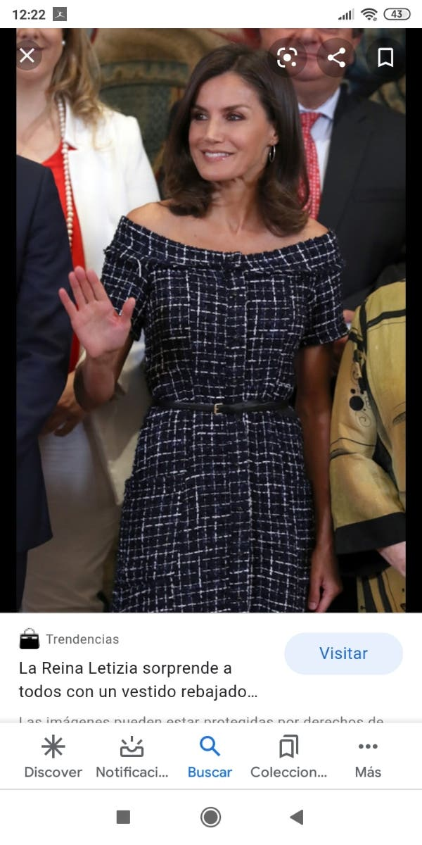 vestido tweed Zara talla L