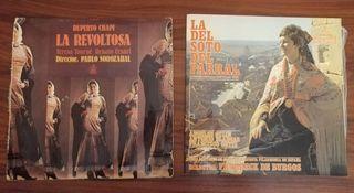 LOTE 2 DISCOS DE VINILO ZARZUELA ÓPERA. LA REVOLTO