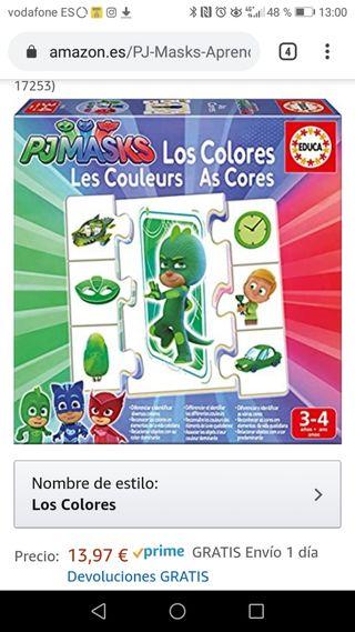Puzzle los colores pjmasks