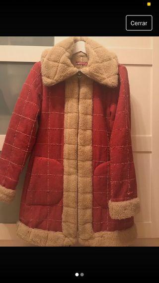 Abrigo largo borreguillo Roxy. Talla M