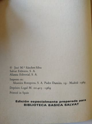 6x3€ - Marcelino pan y vino - José M Sanchez-Silva