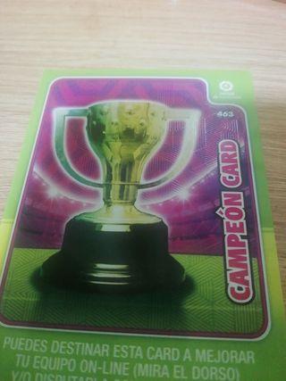Cromo campeon card Adrenalyn XL 2019-20