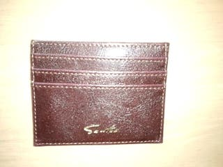 Faux Leather Card Wallet Holder