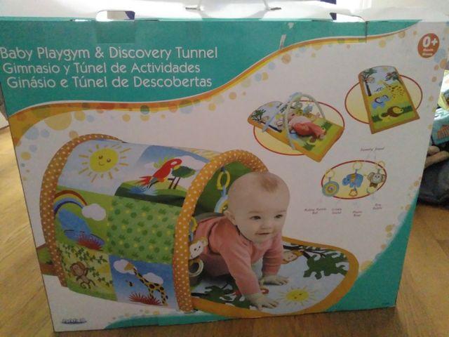 Gimnasio y túnel de actividades bebé