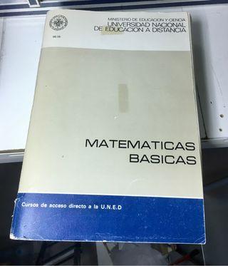 Matemáticas básicas acceso UNED
