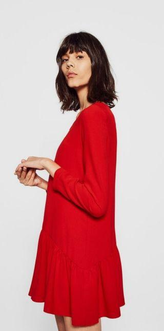 vestido/mono rojo zara