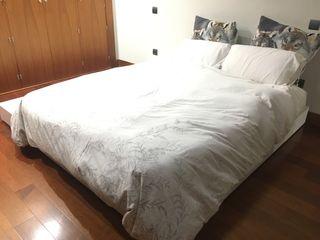 Cama 150x200 tatami con arcón y cajones