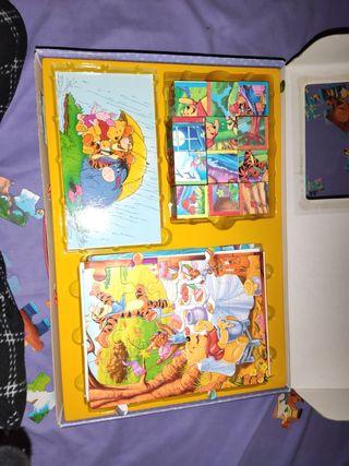 pack de puzzles y cubos de winnie the pooh
