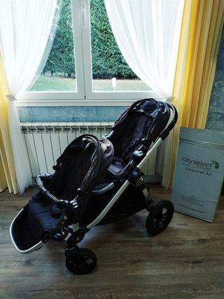 carro carrito paseo coche cochecito gemelar bebe