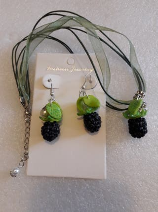 Set of BlackBerry Made of Baked Polymer Clay