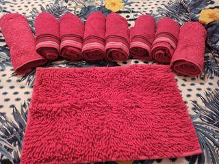 set de toallas rosa