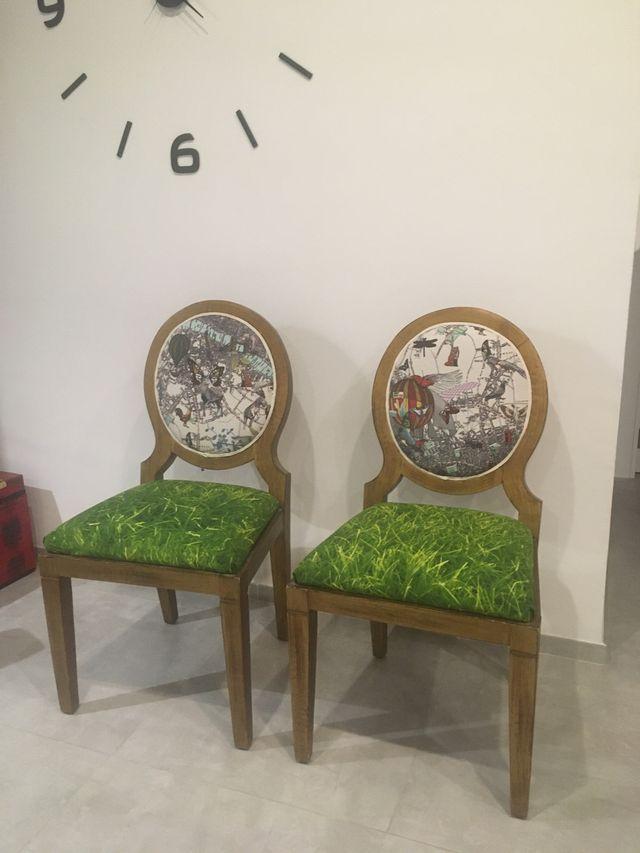 Pareja de sillas diseño