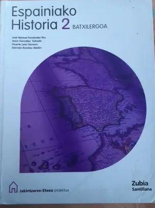 Libro Historia bachillerato 2 en euskera