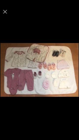 Lote ropa de bebé niña 0 a 6 meses