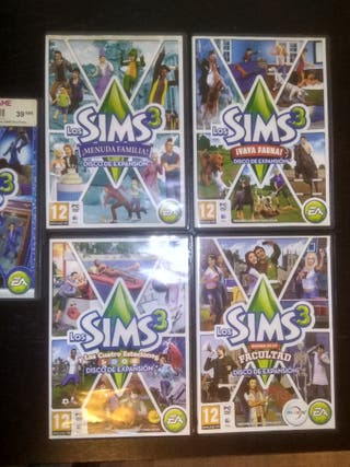 Sims 3 juego base + 9 expansiones . PC