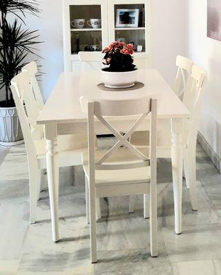 Comedor Ikea Mesa extensible + 6 Sillas